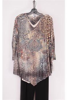 Royal Gown Ruffle Tunic