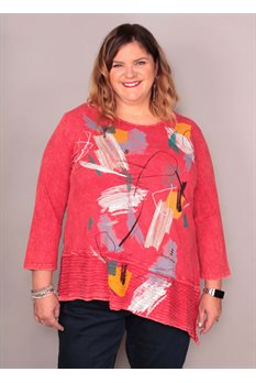 Cotton Slub Wave Knit Tunic